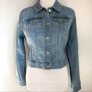 Old Navy Jackets & Coats - Old Navy Shrunken Light Denim Jean Jacket, Sz. M